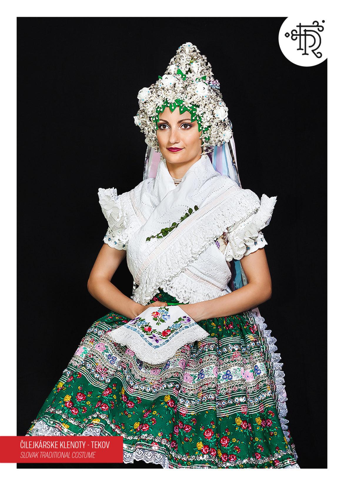 Folklórny región Tekov – Čilejkári – svadobný kroj s partou